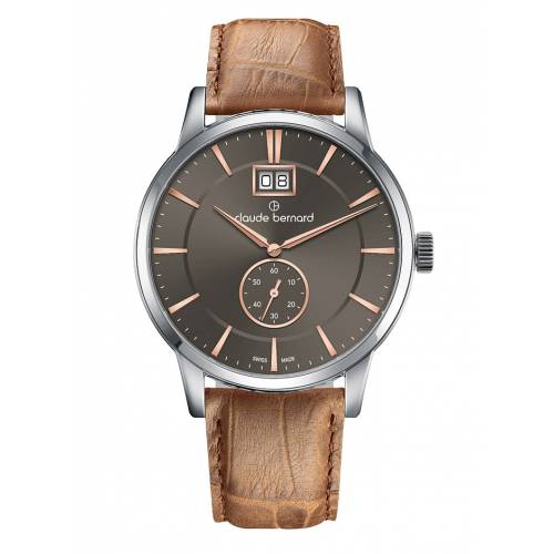 Claude Bernard Classic Big Date Small Second 64005 3 GIR3