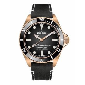 Edox Sky Diver Military Bronze Limited 80115 BRZN NDR