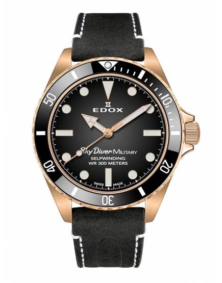 Edox Sky Diver Military Bronze Limited 80115 BRZN NDR
