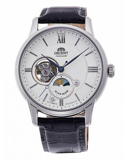 Orient Classic Automatic Open Heart Sun & Moon RA-AS0005S10B