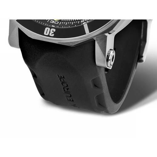 Vostok Europe Lunokhod Silikoninė Apyrankė 620-steel-Si-Black